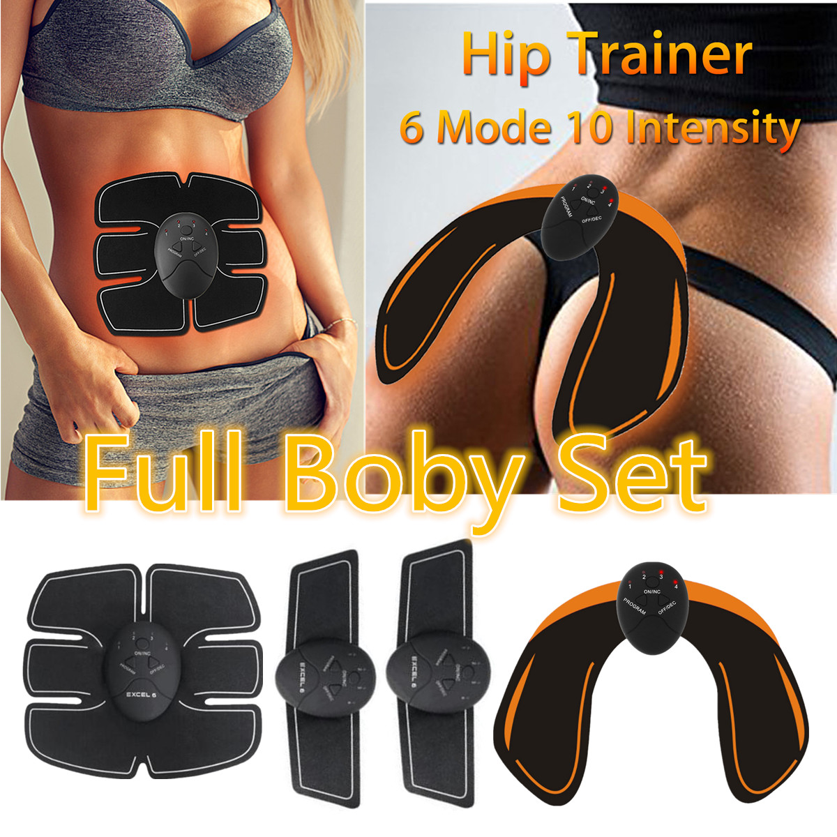 KIFIT Intelligent Trainer Buttocks Lifting Electrical Muscle Training Gear Body Beauty Machine Electric Muscle Trainer Set herbal muscle