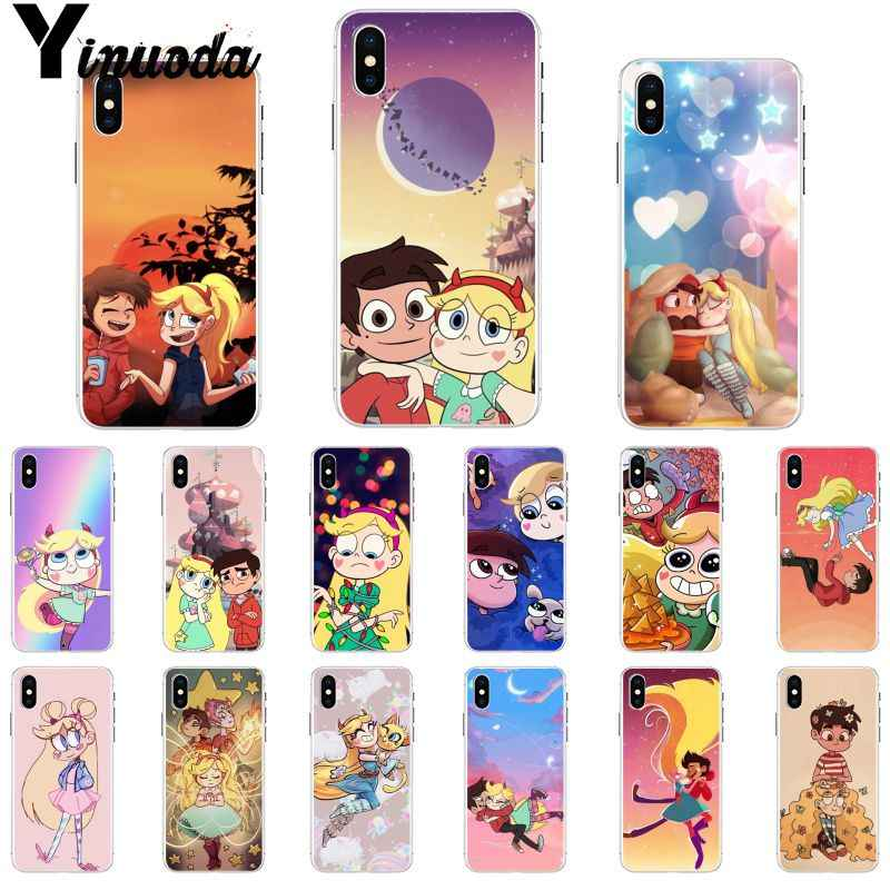 Yinuoda Star vs the Forces of Evil прозрачный мягкий чехол для телефона Apple iPhone 8 7 6 6S Plus X XS MAX 5 5S SE XR