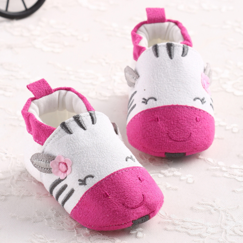 Baby Shoes Girls Cartoon Soft Sole Cotton Coth Infant Boy Girl Toddler Baby Shoes Newborn Baby First Walker Shoes