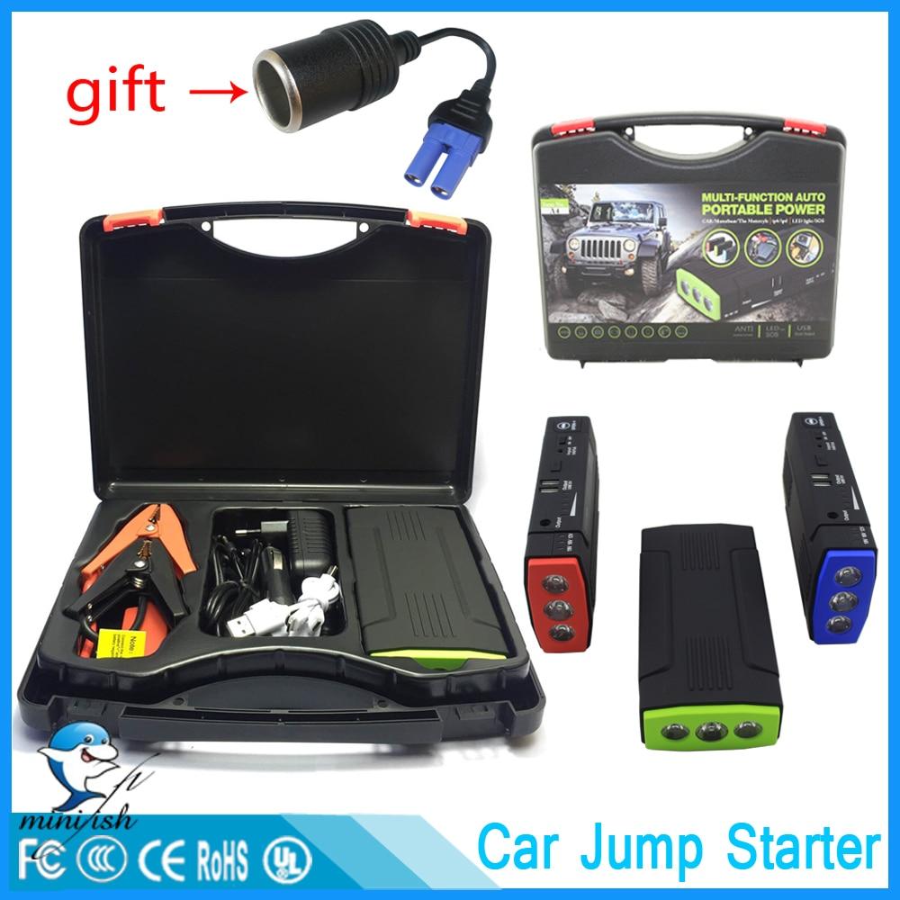 Promotion Multi-Fonction Portable 600A chargeur de batterie de secours De Voiture Jump Starter 68000 mAh Booster batterie externe Dispositif de Démarrage