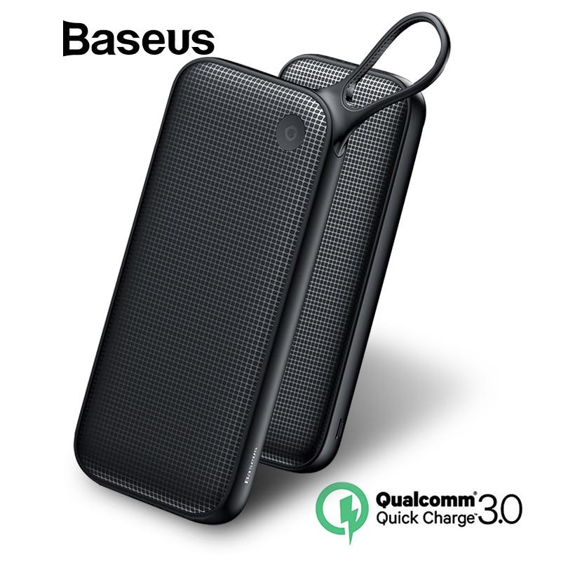 Baseus 20000 mAh banco de potencia para iPhone Xs Max XR 8 7 Samsung S9 PD USB de carga rápida + Dual QC3.0 rápido cargador banco de energía MacBook