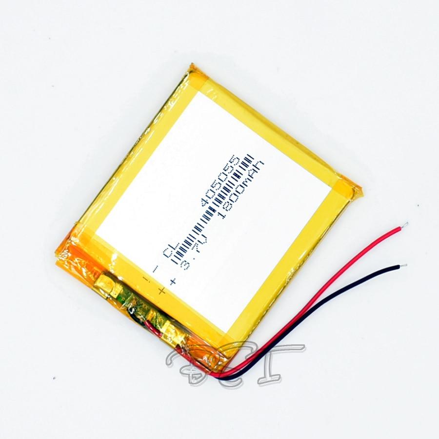 10 pièces 3.7 V 1800 mAh 405055 li-polymère batterie Rechargeable Li Po ion Li pour GPS LED bluetooth jouet MP3 MP4 045055