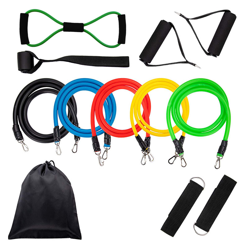 Resistance Bands Home Fitness Workouts Set Chest Expander Door Anchor Legs Ankle Straps Training Physical Therapy Exercise