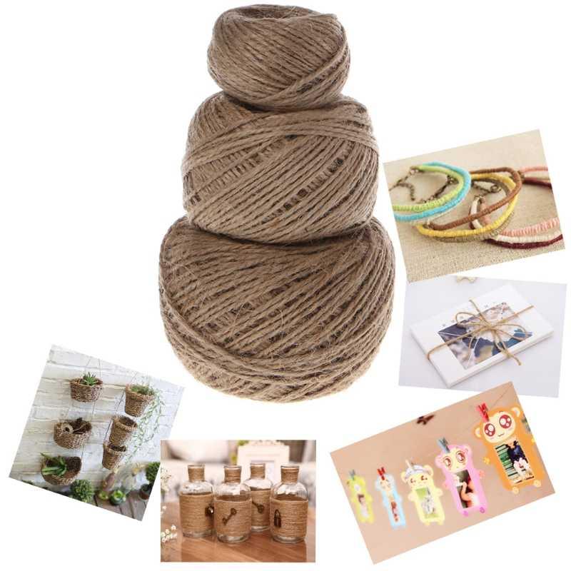 1 Roll Jute String Hemp Rope For Bracelet Necklace DIY Craft Decor 25/50/100 m