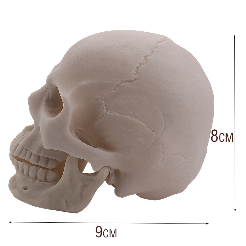 P-Flame Halloween Decoration Simulation Skull Resin Crafts 1:2 Props Home Decoration Sculpture Creative Small Decoration Gift