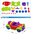 Mixed Shape Wise Pretend Puzzle Smart Bubble Car Model Buliding Baby Kid Learning Toys Tool miniature car model scale models