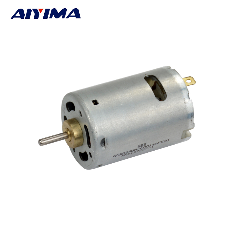 Brand new imported 545 dc motor 6 12v 11000 22800rpm with for Small dc fan motor