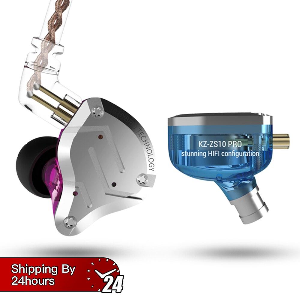 AK KZ ZS10 Pro 4BA + 1DD hybride dans l'oreille écouteur HIFI course Sport écouteurs oreillette casque oreillette KZ ZS6 AS10 ZST ZS10 ZSN CCA