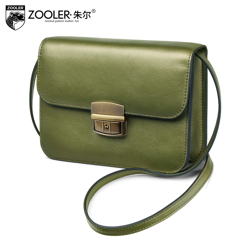 Hot&New 2018 elegant woman bag ZOOLER brand genuine leather bag lady cross body designed high quality chain shoulder bag #W-110 2016 new fashion cross body bag genuine leather brand handbag soft shoulder bag designer chain high quality bag for women