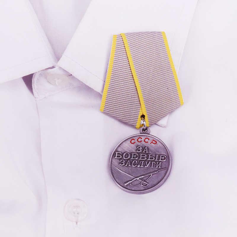 Uni Soviet Tempur Penghargaan Medali Perang Dunia II Uni Soviet Pertempuran Jasa Pin Pro Kitty Berjasa Layanan Logam Lencana