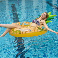 Hot sale inflatable pineapple swim ring children swim ring swim ring float 2019 new swim ring