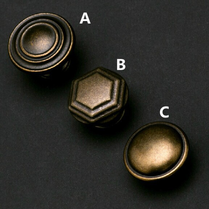 Bronze Drawer Kitchen Cabinet Knobs Antique brass Dresser  Cupboard  handles knobs vintage  Furniture door  knobs pulls handles