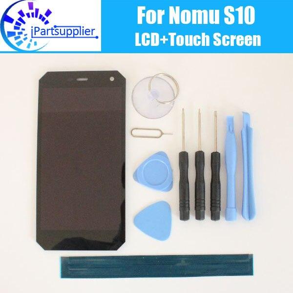 Nomu s10 display lcd + de tela toque 100% original lcd digitador substituição do painel vidro para nomu s10