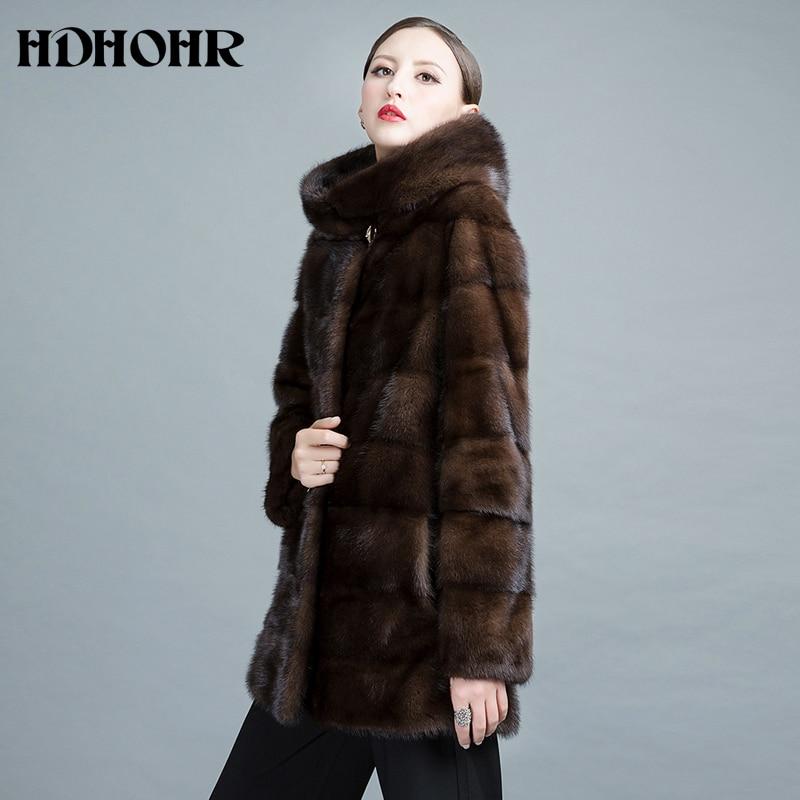 HDHOHR 2019 Baru Natural Mink Fur Coats Wanita Tebal Hangat Musim - Pakaian Wanita - Foto 4