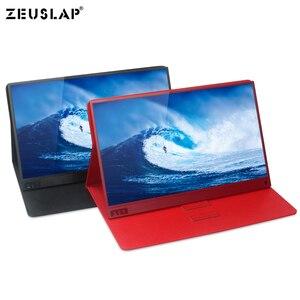 Image 2 - 15.6 cal monitor z ekranem dotykowym przenośny ultracienkich 1080P HDR IPS HD rodzaj usb C wyświetlający informacje o laptop telefon XBOX przełącznik i PS4