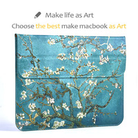 Green Van Gogh Sleeve Cover For Macbook 12 Inch Air 13 3 Pro 13 3 Retina