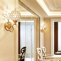 selling crystal wall lamp modern restaurant corridor lamp contracted sitting room bedroom berth lamp pipe wall lamp