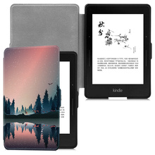 Купить с кэшбэком AROITA Case for Kindle Voyage (2014 release) E-reader Ultra-thin Fashion painted protective Smart cover with auto wake/sleep