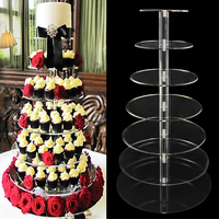 7 Layers Cake Decorating Tools Cake Dessert Cake Stand Crystal Clear Circle Acrylic Cupcake Bracket Wedding