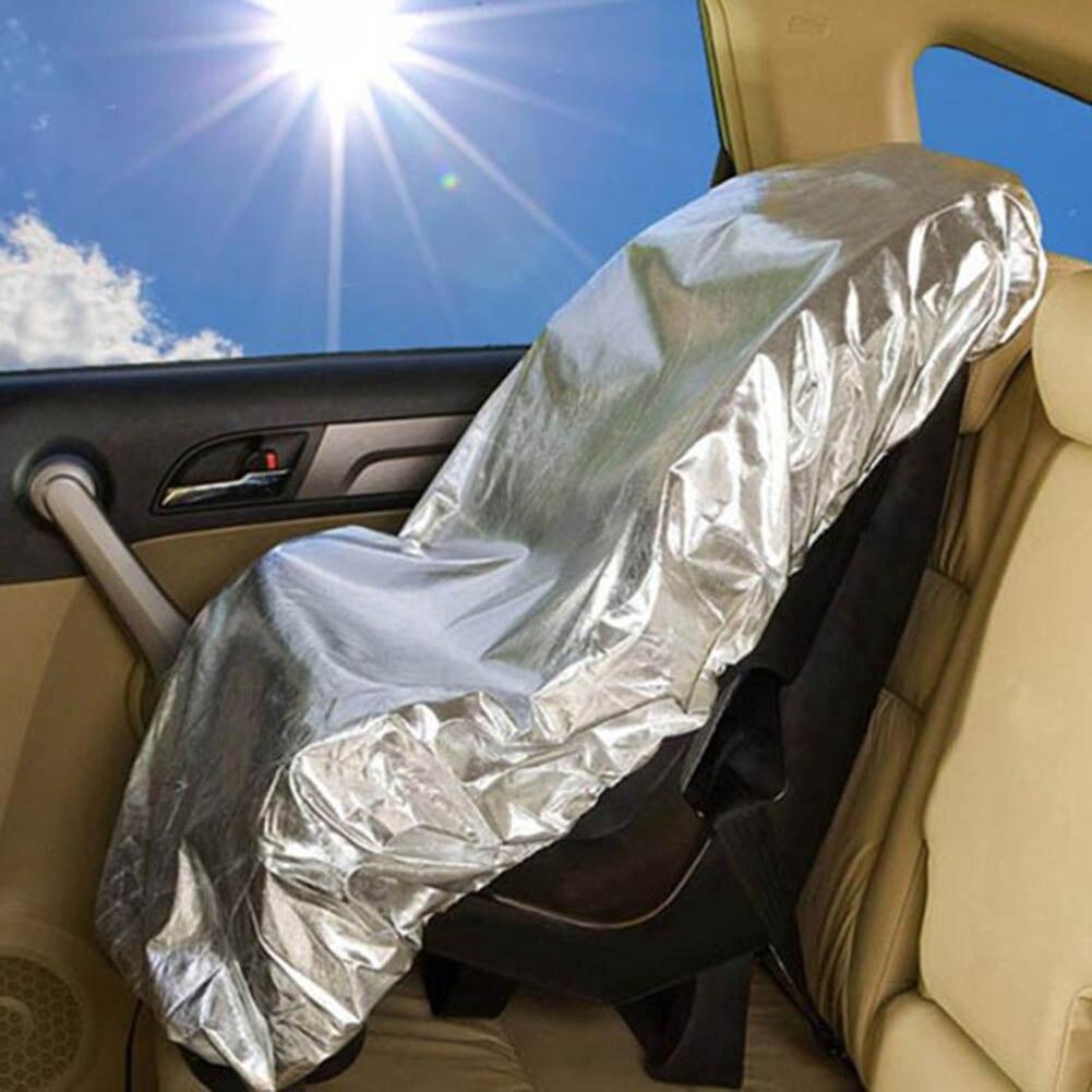 Cover Reflector Baby Kids Car Safety Seats Silver Aluminium Sun Shade Sunshade Film 80x108cm UV Rays Protector