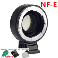 Viltrox NF E Focal Reducer Speed Booster Lens Adapter Turbo w/Aperture Ring for Nikon F Lens to Sony A7RIII A7SII A6300 A6500