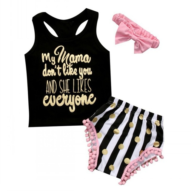 efc0635ba Kids baby Girls Clothing Sets 2018 New Summer Fashion Style Cartoon ...