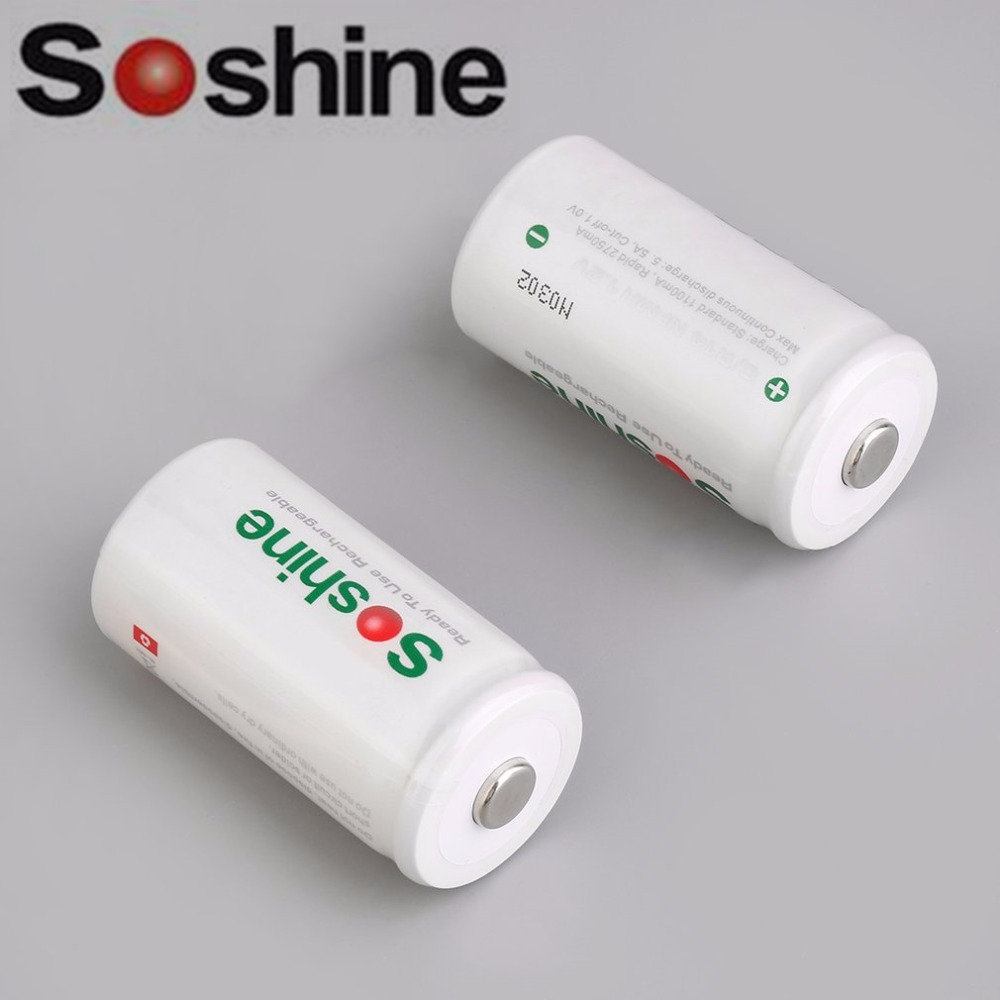 Soshine High quality C size 5500 mAh high capacity nickel hydride metal (Ni-MH) recharge ...