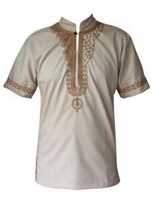 Image 3 - Dashikiage African Man Casual Top Kwanzaa Embroidery Dashiki Summer Mens t shirt