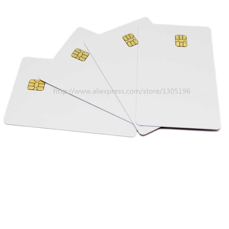 PVC 4442 Chip Blank Printable card PVC Card, PVC IC Cards hotel card non standard die cut plastic combo cards die cut greeting card one big card with 3 mini key tag card