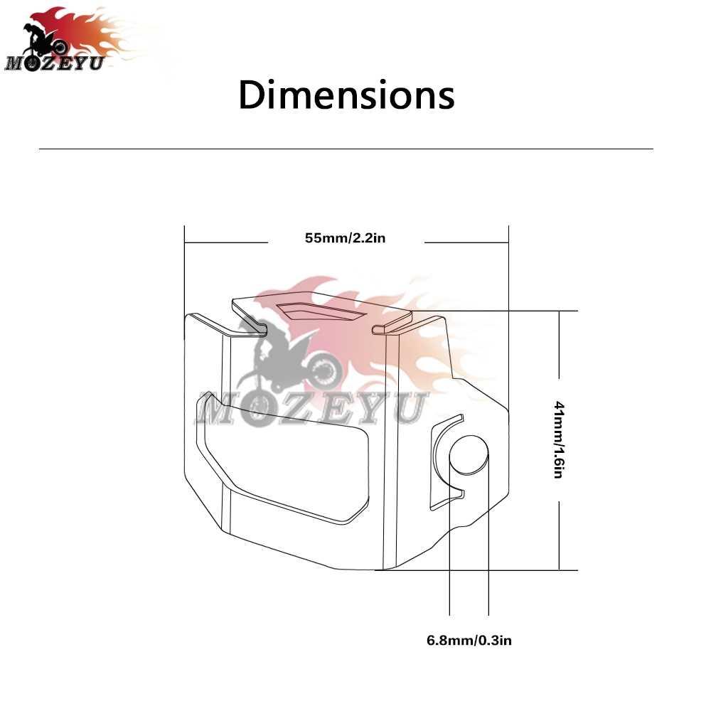 for ktm 790 duke motorcycle cnc rear brake fluid reservoir guard cover  protect