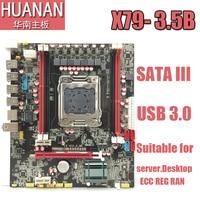 HUANAN X79 E5 3 5B LGA 2011 DDR3 PC Desktops Motherboards Computer Computer Motherboards Suitable For