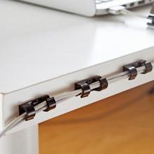 20 sztuk 1 paczka przenośny kabel upuść klip przewód przewód USB ładowarka biurko Tidy organizator uchwyt na przewód organizer bezpieczne tabeli tanie tanio HELLOYOUNG Z tworzywa sztucznego