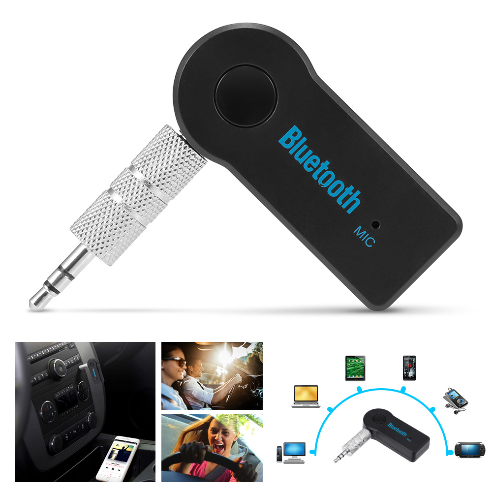 2016 Handfree Car Bluetooth Music Receiver Universal 3 5mm Streaming A2dp Wireless Auto Aux: Geartronics Handsfree Car Bluetooth Music Receiver Universal 3.5mm Streaming A2DP Wireless Auto