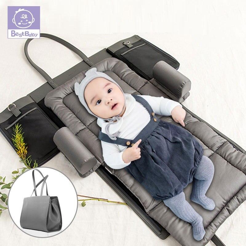 Портативная детская кроватка, Детская сумка для подгузников, сумка для мам и мам, сумка для детских подгузников, дорожная кровать, детская к