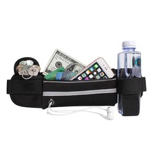 Outdoor Sports Waist Bag With Water Bottle Pockets Running Adjustable Ultralight Elastic