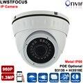 VandalProof Металлический Корпус 960 P 1.3MP IP Купольная Камера 20 М расстояние ИК Интернет Сетевая Камера Ик ONVIF 1,3-МЕГАПИКСЕЛЬНАЯ Камера IP