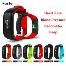 Фустер 2017 новые Приборы для измерения артериального давления и сердечного ритма Мониторы Спорт Фитнес умный Браслет IP67 Водонепроницаемый Bluetooth Smart Band