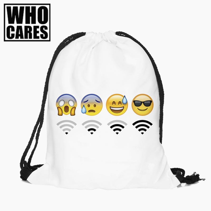 Emoji Wifi mini Backpack women 3D printing travel softback men mochila 2017 new drawstring bag School girls backpacks sac a dos deanfun emoji backpack 2016 new fashion women backpacks 3d printing bags drawstring bag for men s79
