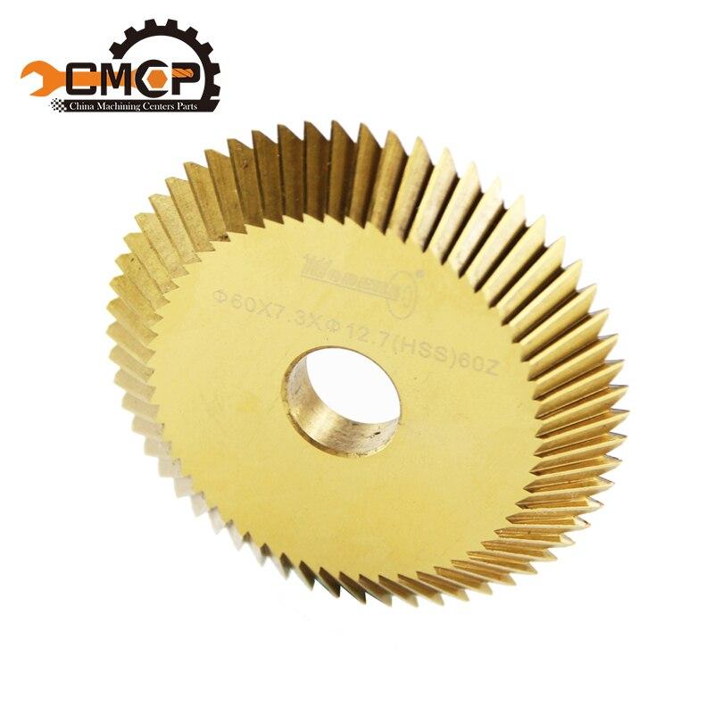 Diameter 60*12.7*7.3mm  60T Key Cutting Blade For Key Copy Machine Key Machine Spare Parts Locksmith Tools