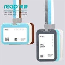 Хорошее Reap 7178 кремния ID/карт IC бейдж держатель (возможность провести 2 карты!) для детей имя метки школьный лагерь офисные Бизнес