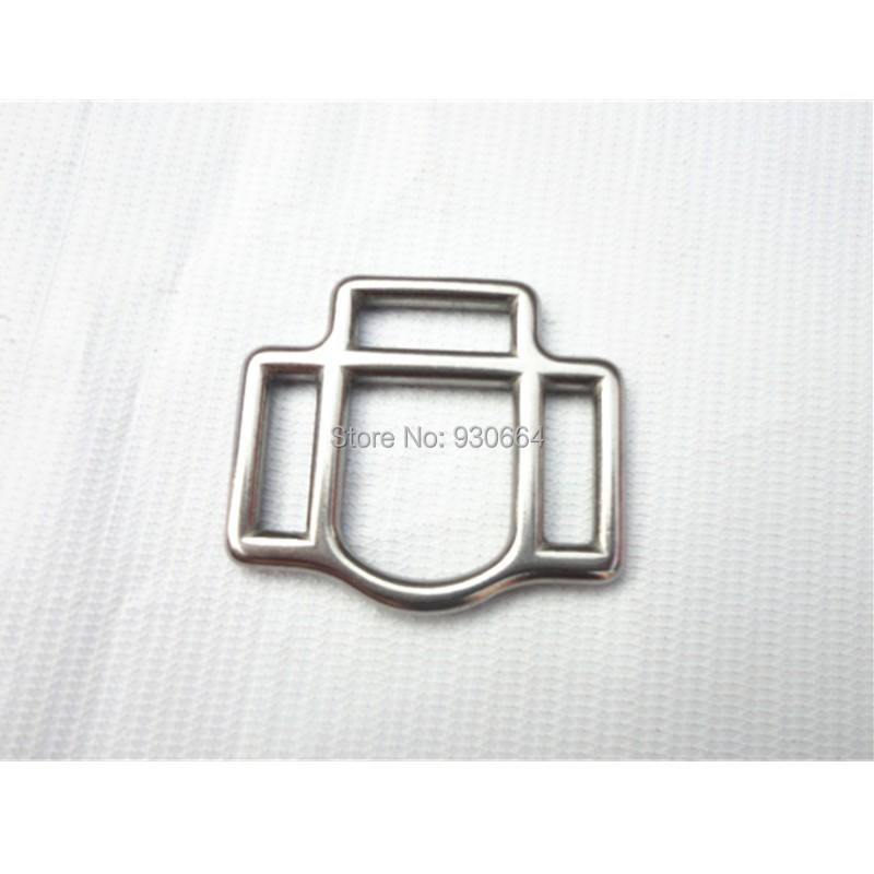 20PCS/Lot Stainless Steel Bridle Fittings 20mm Buckle With 3 Slots P011 Free Shipping