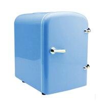 Olyair retro frigorífico 4L mini carro frigorífico geladeira portátil geladeira única porta refrigerador do carro 12 V carro 220 V casa