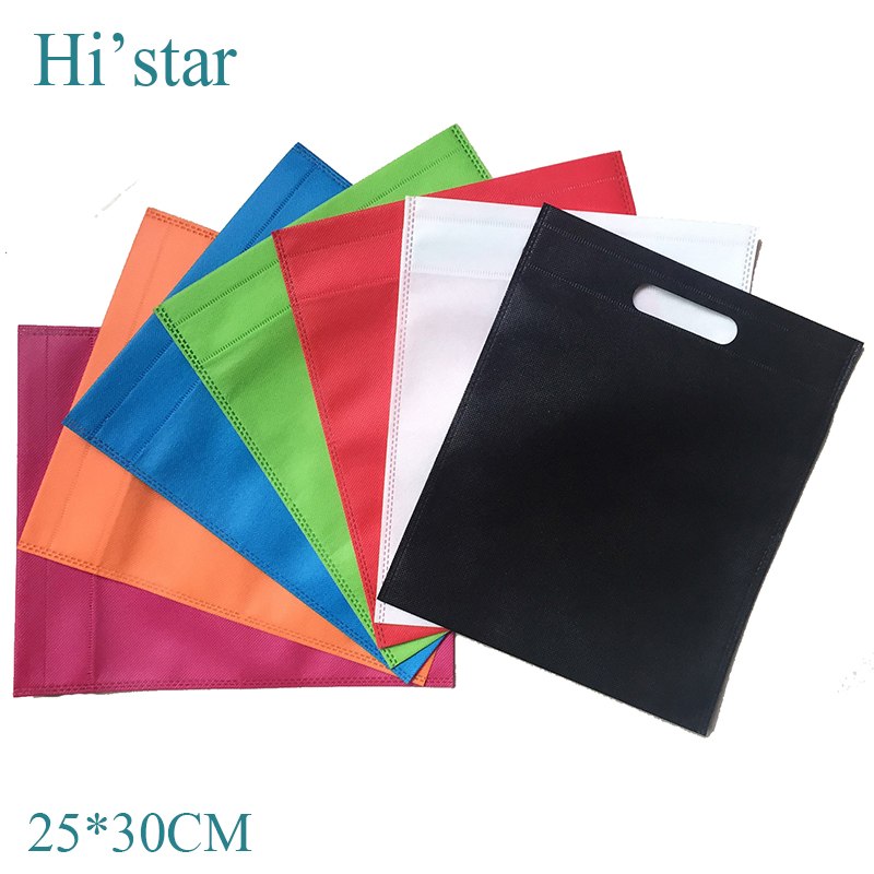 2e2826e55af 25 30cm 20 pieces lot Personal brand printed non woven fabrics tote bag  punch