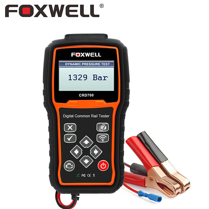 FOXWELL CRD700 цифровой Common Rail Давление Тесты инструмент диагностики Проверить высокого Давление насос бар автоматический запуск двигателя Тест...