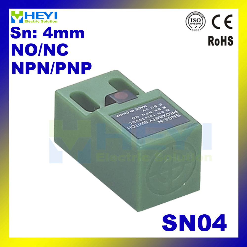 Hot Sale Non Flush Sn04 No Nc 2 Wire 3 Proximity Switch Square 2wire Wiring Sensoring Inductance Sensor