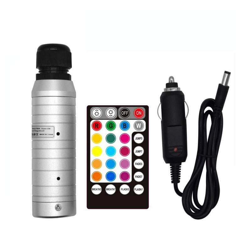 1X DC12V RGB Color LED 6W Fiber Optic Light Engine Driver With 17 Key RF Remote Controller For Car Used Free Shipping