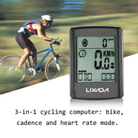 Multifunctional 3 in 1 Wireless Cycling Computer Stopwatch LCD Bicycle Computer Cadence Heart Rate Monitor Chest Strap Hot