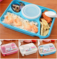 2016 Hot Bento Lunch Box Utensil Food Storage Lunch Containers Microwave Oven Box