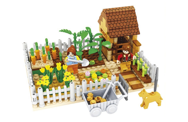 Building Block Set Compatible with lego happy farm 262 3D Construction Brick Educational Hobbies Toys for Kids free shipping happy farm set 1 diy enlighten block bricks compatible with other assembles particles