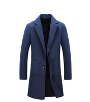 Spring Autumn Business Casual Blazer Men Big Size Trench Coat British Style Overcoat Male Manteau Long